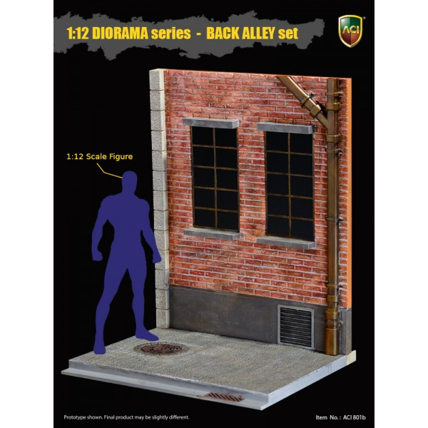 ACI801B ACI Toys 1/12 DIORAMA Series Back Alley Set: Rear Window