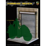 ACI801C ACI Toys 1/12 DIORAMA Series Back Alley Set: Roller Shutter Door