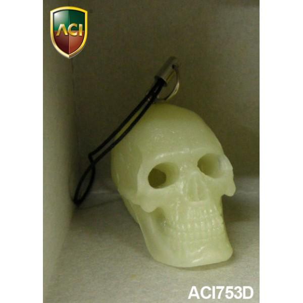 ACI753D Glow-In-The-Dark Cannibal Skull Phonecharm (1:6)