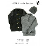 ACI770-2  Duffle Coat Set 2 - Black Short Set (1:6)