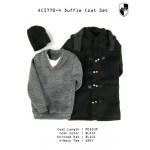 ACI770-4  Duffle Coat Set 4 - Black Medium Coat Set  (1:6)