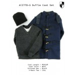ACI770-5  Duffle Coat Set 5 - Navy Medium Coat Set  (1:6)