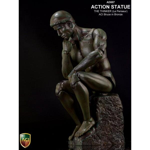 AD007 Action Statue: The Thinker (Le Penseur) Bronze Color