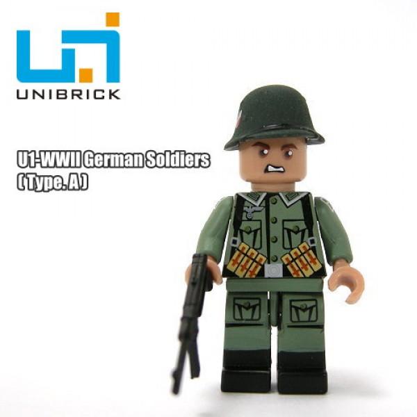 Unibrick U1A WWII German Soldier Type A