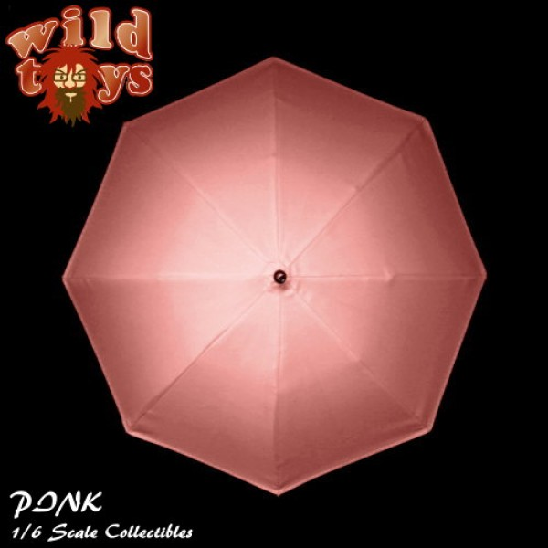 Wild Toys WT23M Umbrella - Pink with finger grip handle (1:6)