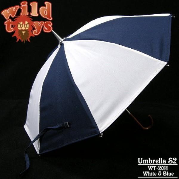 Wild Toys WT20H Umbrella - White & Blue (1:6)