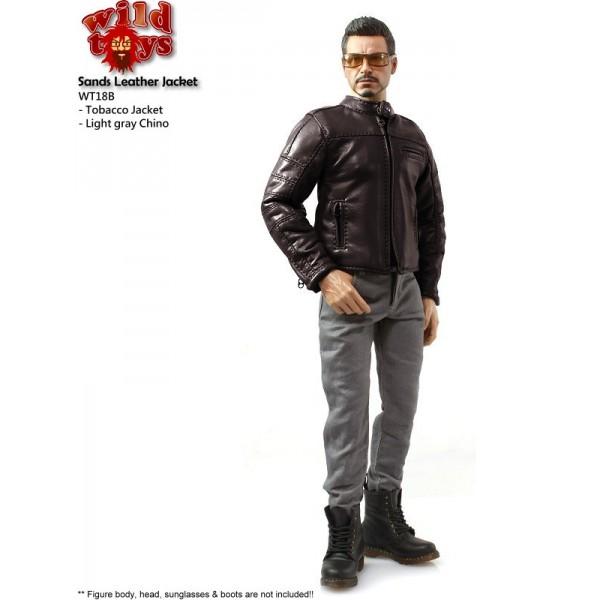 Wild Toys WT18B Sands Jacket Set : Tabacco+ Light Gray Pants (1:6)