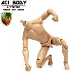 "AB-3/AB9B Medium Built Body ""Christian"" : unpaint (1:6)"