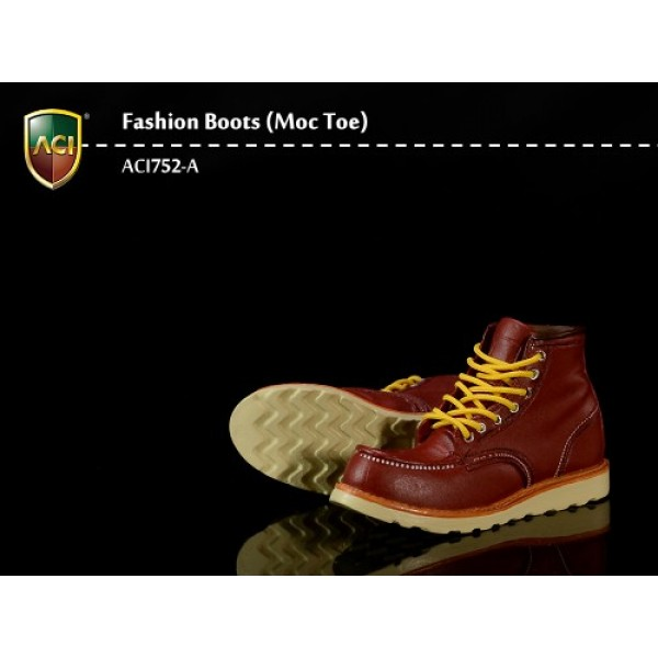 ACI752A Fashion Boots S5 Moc Toe: Red Brown (1:6)